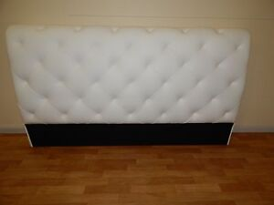 King size leather pure white sleigh bed head SYDNEY DELIVERY Windsor Hawkesbury Area Preview
