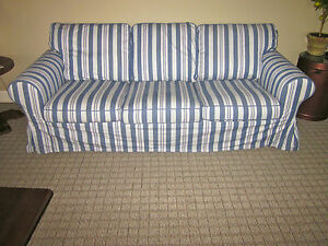 Ikea 3 Cushion Couch 039 Cover Only 039 Ektorp Abyn Blue