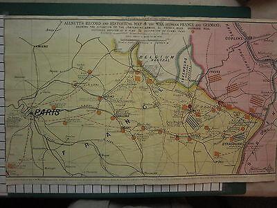 Große Antike Karte (C1830 Große Antik Karte ~ ALLNUTT'S Record & Historical Krieg Frankreich &)