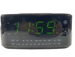 GE 7-4852A Large Display Radio Dual Alarm Clock AM/FM Good Condition