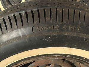 Set of 4 trailer tires 7.34-14 4ply