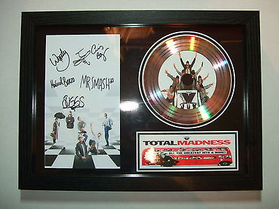 MADNESS  SIGNED FRAMED GOLD CD  DISC   3