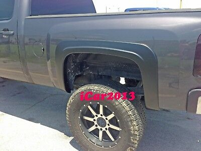 FACTORY STYLE FENDER FLARES FOR 2007 2008 2009 2010-2013 CHEVY SILVERADO 2500HD