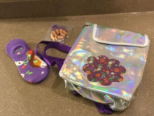 Girl Scout Samoa's Cookie backpack, Socks & Keychain - New in Package