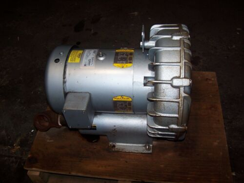 "GAST 5.5 HP REGENAIR REGENERATIVE BLOWER 280 CFM MODEL R6P355A  PORT 2"" NPT"