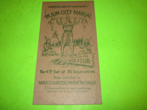 "Vintage 1952 ""Straight Arrow"" Cardboard Card in Nabisco Shredded Wheat Packages"