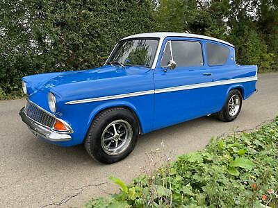 Ford Anglia Super modified, 3.5 V8, stunning car throughout.