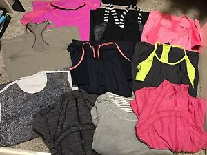 Various Lululemon tanks and Jackets size 8