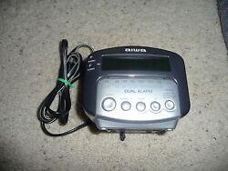 AIWA AM/FM Dual Alarm Clock Radio Receiver FR-A275 (Gray)