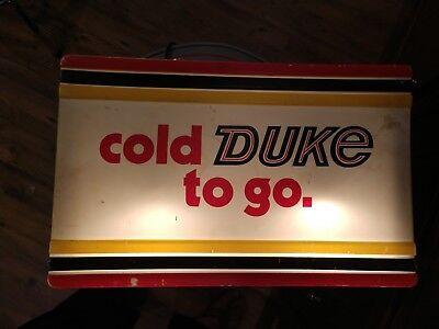 - VINTAGE COLD DUKE TO GO BEER LIGHT BAR SIGN Man Cave Movie studio Pittsburgh