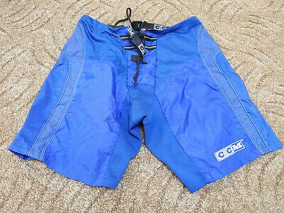 CCM Track Pants Ice Hockey Blue Size Small NHL Shorts Cover Nylon Tacks W: 30-32 ()