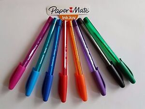 Papermate Inkjoy 100 Assorted Colours Ballpoint Pens School Office - Pack of 8