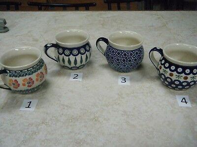 12 Oz Polish Pottery Pot Belly/Bubble Mug.