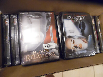 Halloween Related Movies (BLOOD RELATIONS & EXPECTING MERCY horror dvd wholesale of 30 use empty cases)