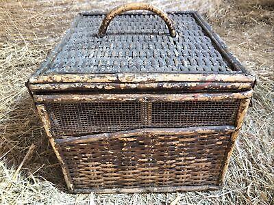 Vintage Antique Wicker Pigeon Show Basket Wicker Basket Racing Pigeons