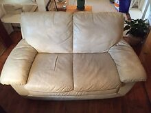 Genuine leather couch North Narrabeen Pittwater Area Preview