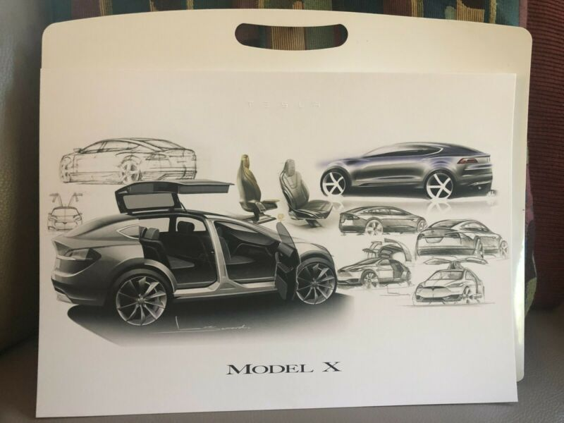 Tesla Model X Official Launch Night Poster - perfect. Suitable for framing.