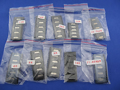 Hc-49s Smd Smt Crystal Resonators Assorted Kit 10 Value Total 50pcs Sample Pack