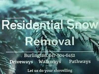 Residential snow shoveling . Driveways / walkways