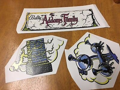 Bally Addams Family Pinball Machine Cloud Topper Decals Stickers