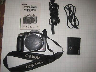 Canon EOS Digital Rebel / EOS 300D 6.3MP Digital SLR Camera - Silver (DS6041) for sale  Littleton