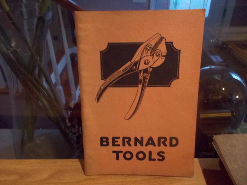 Original 1930 Wm. Schollhorn Company BERNARD TOOLS Catalog No. 30