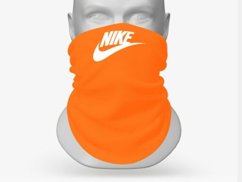 NIKE FACE MASK NECK GAITER MADE IN USA REUSABLE WASHABLE JORDAN ORANGE RUNNING
