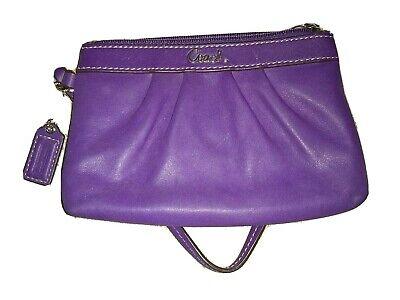Coach wristlet wallet purple