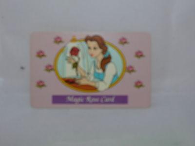 "RARE Disney's Beauty & the Beast Belle ""Magic Rose Card"""