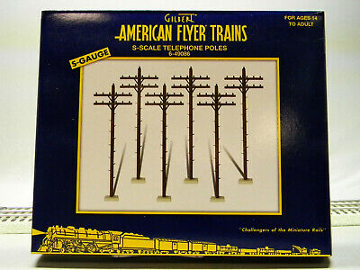 LIONEL AMERICAN FLYER S GAUGE TELEPHONE ELECTRIC POLES power track 6-49086 (American Mail Tracking)