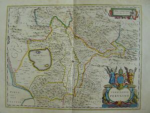 MAPPA TERRITORIO PERUGIA 1640 FOLIGNO PASSIGNANO CORTONA CASTIGLIONE DEL LAGO - Italia - MAPPA TERRITORIO PERUGIA 1640 FOLIGNO PASSIGNANO CORTONA CASTIGLIONE DEL LAGO - Italia