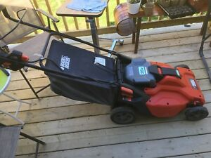 Black & Decker Cordless Electric Lawn Mower