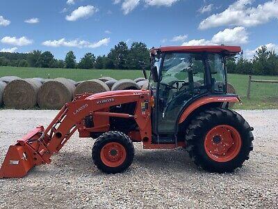 2015 Kubota L6060 Cab Tractor Hst Hydrostatic 60hp 4x4 Loader