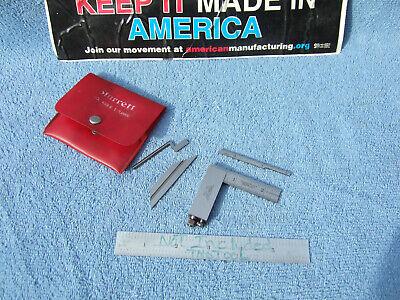 Lufkin 138cx Die-makers Square Vintage Usa Machinist 5 Pieces Wstarrett Case
