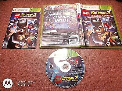 Microsoft Xbox 360 Complete CIB Tested LEGO Batman 2 DC Super Heroes Ships Fast