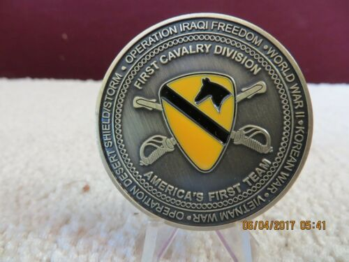 Military Challenge Coin Army First Cavalry Division