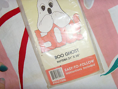 Yard Art Do-it-yourself Simple Boo Ghost Halloween Yard Art Pattern pattern cute - Diy Halloween Yard Art