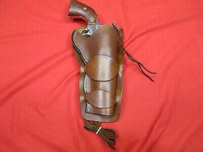 Western Cowboy 45 Cal. Peacemaker or Likeness, Double Loop Holster, No Tooling - Double Cowboy Holster
