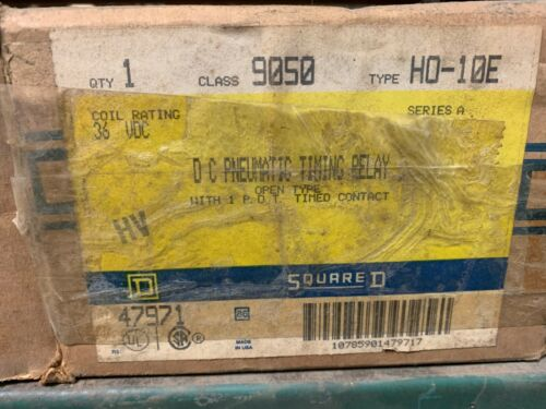 SQUARE D 9050 TYPE HO-10E DC PNEUMATIC TIMING RELAY