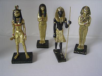 Ägyptische Figuren, 4er Set, 18 - 20 cm, Tutanchamun, Skulptur, Dekoration