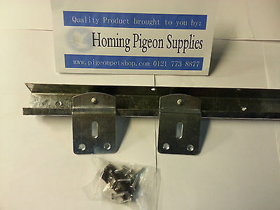 Racing Pigeon Loft, Poultry etc Sliding Door Runner Complete Kit