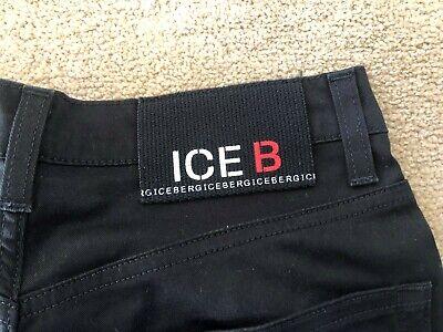 MEN'S BLACK SLIM FIT ICEBERG JEANS W28 L31 USED SKINNY JEANS