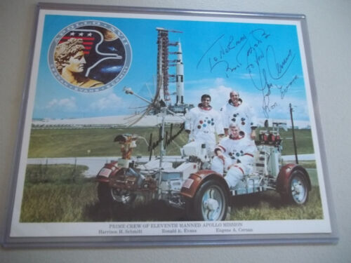 Apollo 17 Autographed 8X10 Crew Photo
