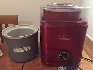 Cuisinart yoghurt sorbet ice cream maker with extra freezer bowl Innaloo Stirling Area Preview
