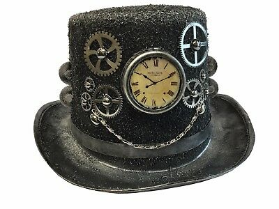 Antique Steampunk Top Hat Gear Chain Time Travel Halloween Costume Party - Halloween Party Time