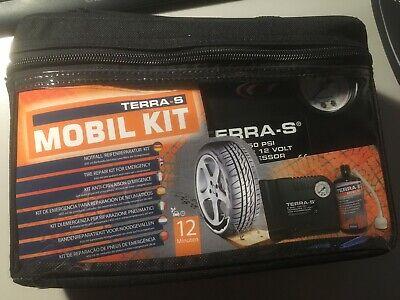TERRA-S Kompressor Tirefit elektrisch Luftpumpe Reifendichtmittel MHD 7/20 Tasch