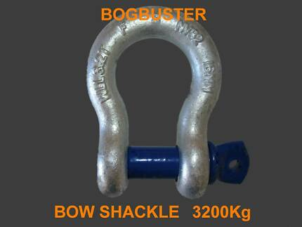 BOW SHACKLE SHACKLES 3.2T OFF ROAD RECOVERY WINCH STRAP 4WD 4X4 Beldon Joondalup Area Preview
