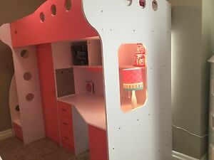 2 jysk loft beds [pink] mattress included