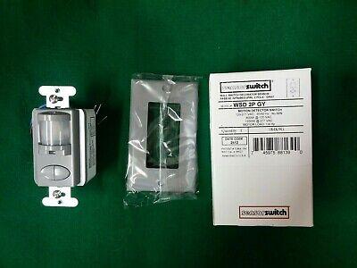Acuity Sensor Switch Wsd 2p Gy Motion Detector Switch Grey Vac New Switch 2 Pole