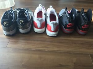 NIKE Air Force 1, Adidas Ultra Boost and Jordan Spike Forty